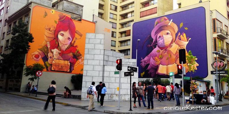street-art in Santiago