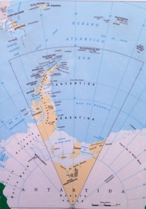 map showing how close we are to Antarctica