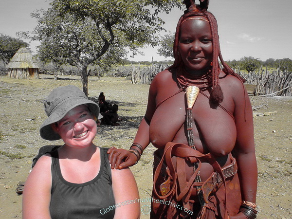 The Himba people in wonderful Namibia - meeting new friends