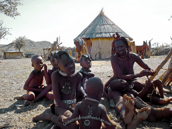 The Himba people in wonderful Namibia - Ovahimba (plural for Himba) Namibia