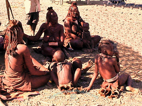 The Himba people in wonderful Namibia - Ovahimba (plural for Himba). Namibia