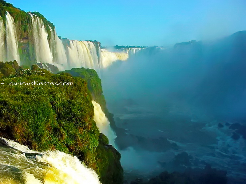 Iguazú Falls worlds most beautiful waterfall - from Brazilian side © curiousKester.com | Kirsten K. Kester
