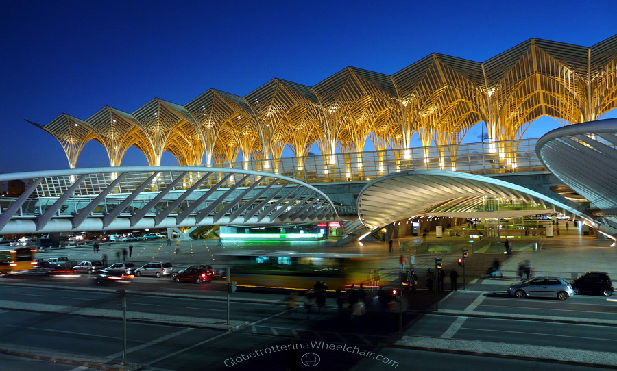 Gare do Oriente is a major train, bus and metro station located in eastern Lisbon. It is designed by the Spanish architect Santiago Calatrava