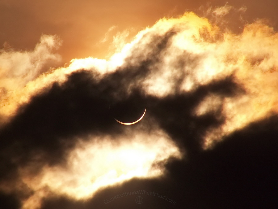 Amazing solar eclipse in Panama