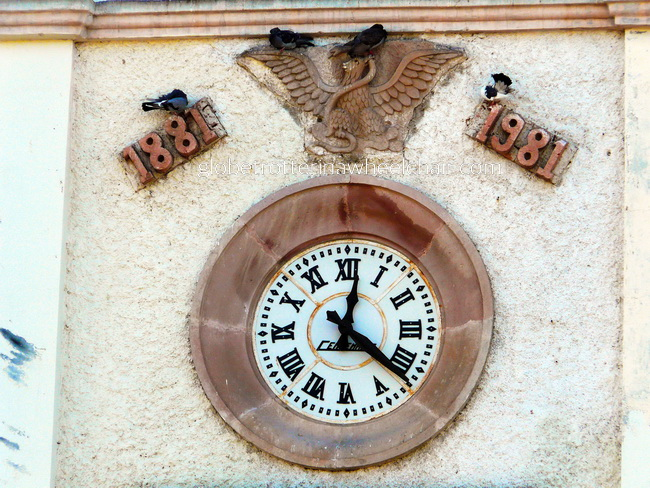 The town hall clock in La Paz, Mexico