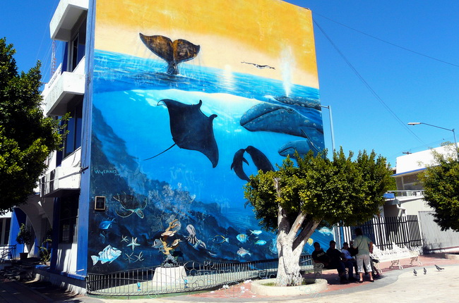 Mural in La Paz, Mexico