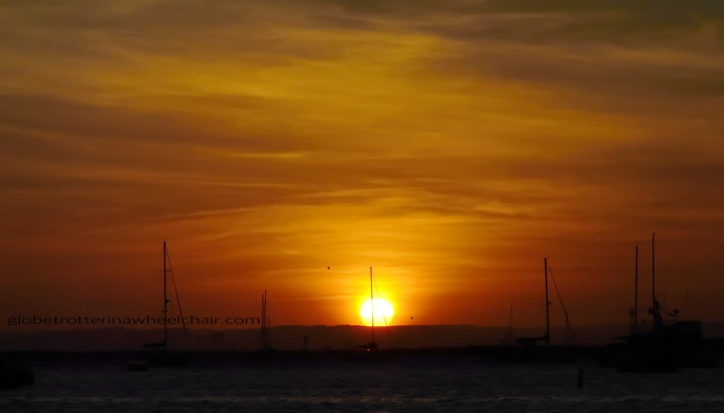 sunset and view of La Paz bay in Mexico © curiousKester.com | Kirsten K. Kester